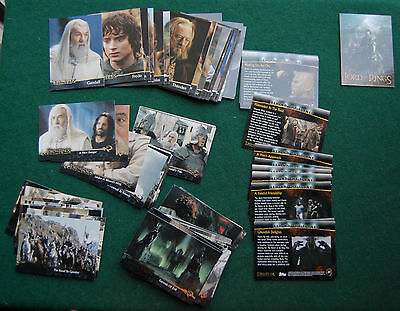 Lord of the Rings Return of the King Topps Trading Cards Complete Set