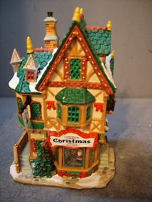LEMAX  Carole Towne Collection TANNENBAUM CHRISTMAS SHOPPE Lighted House