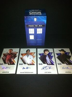 TOPPS Dr Who Tenth Doctor Adventures Autograph Auto Card BOXED SET +4 Autographs