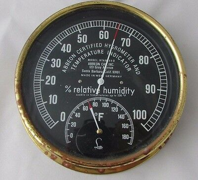 Vintage Abbeon Hygrometer and Temperature Indicator Model HTAB169B West Germany