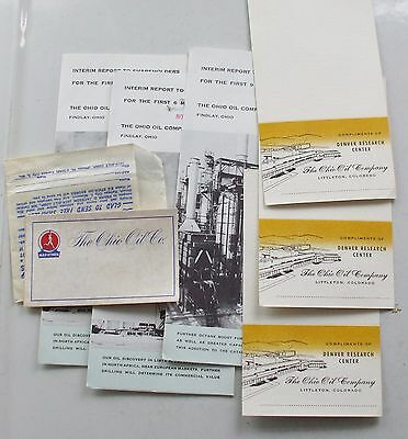 Original Paper Lot from 1958 Ohio Oil Company Shareholders Meeting Marathon