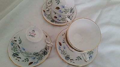 Vintage Cups And Saucers,colclough Bone China X6