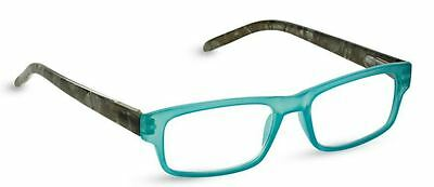 NEW Peepers Reading Glasses Strength +2.25 Double Trouble Turquoise - Free Ship!