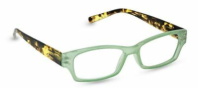 NEW Peepers Reading Glasses Strength +2.25 After Hours Green