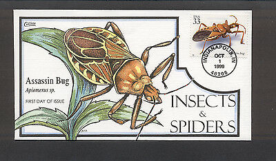 Insects & Spiders FDC, HP Collins, Assassin Bug, 3351