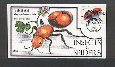 Insects & Spiders FDC, HP Collins, Velvet Ant, 3351