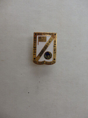 Operation Desert Shield Enamel Pin Together We Stand United