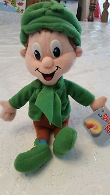 """General Mills Plush Breakfast Pals Lucky Charms Leprechaun 9 1/2"""" From 1998"""