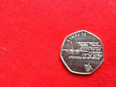 2011 Rowing Olympic 50 pence coin