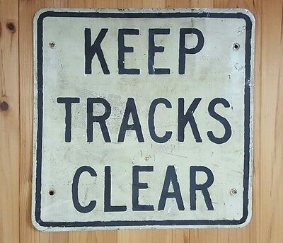 VR Victorian Railways Keep Tracks Clear Sign