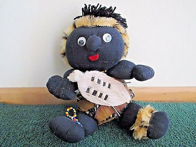 Baby Zulu Warrior Doll from South Africa, beaded, Handmade