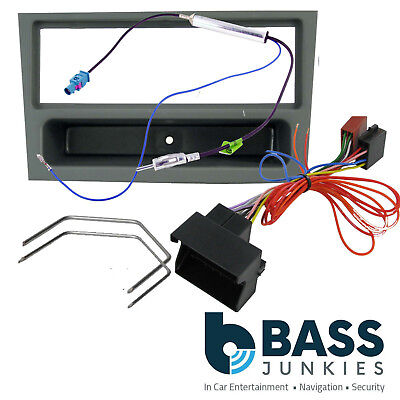 Vauxhall Vectra C 2004-2008 Car Stereo GREY Single Din Fascia Panel & Wiring Kit