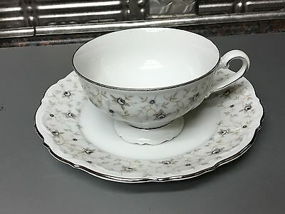 Mitterteich Bavaria Lady Linda Footed Cup & Saucer