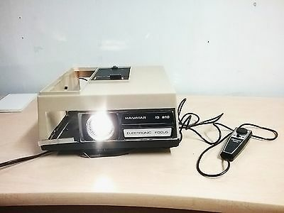 RARE HANIMAR SLIDE PROJECTOR IG 810 ELECTRONIC FOCUS 100 mm WITH REMOTE TESTED