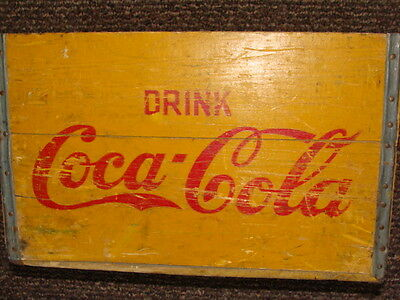 Tall Wooden Coca Cola Coke Crate Wood Box Family Size Vintage Antique Original