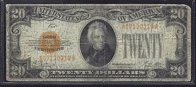 1928 $20 GOLD CERTIFICATE  Fr.2402 - RAW note ungraded