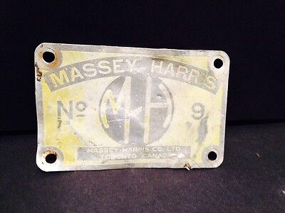 Massey-Harris Tractor Badge No 9 Toronto Canada advertising Collectible