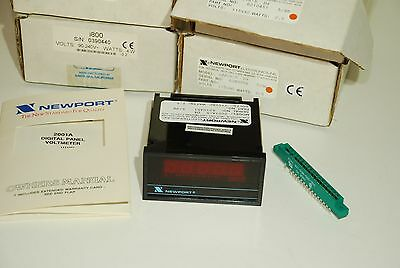 NEWPORT 2001A-5 D4 Red Led Panel Voltage Meter  NOS BOXED Units   (DTop)