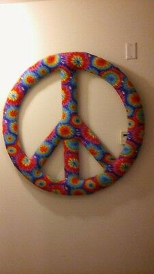 """Cool Tie Dyed Peace Sign.  45"""""""