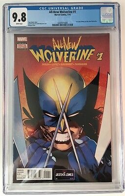 ALL NEW WOLVERINE #1 (2016) CGC 9.8 (NM+/M) X-23 IS NOW WOLVERINE! Cover A