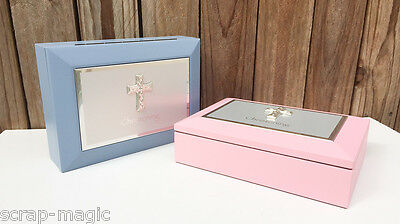 Baptism Keepsake Box - Pink or Blue - Baptism Gift