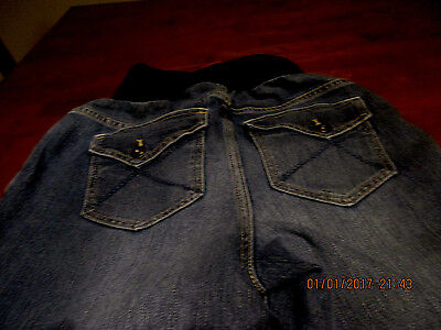Oh Baby Womens size SMALL  Maternity  Jeans designed flap  pockets  STRETCH