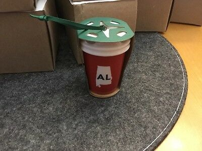 New Starbucks 2016 Alabama AL State Mug Ornament