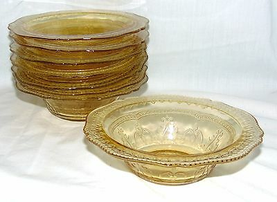 """8 Federal PATRICIAN AMBER *6"""" CEREAL BOWLS*"""