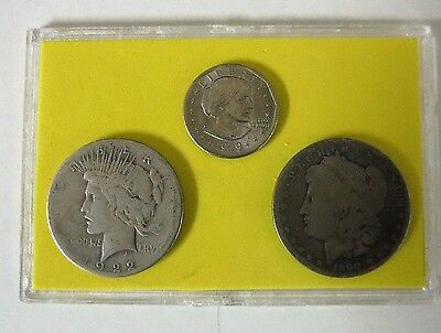 Peace Morgan Anthony Dollar Lot Mix Cased Set / Free Shipping