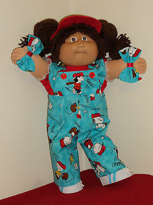 """Cabbage Patch Kids Clothes LETS PLAY BALL  5 PC OVERALL SET for 16 to 18 """" dolls"""