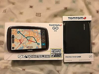 Tomtom go 610 with Guarantee, Protective case and Spare USB Cable