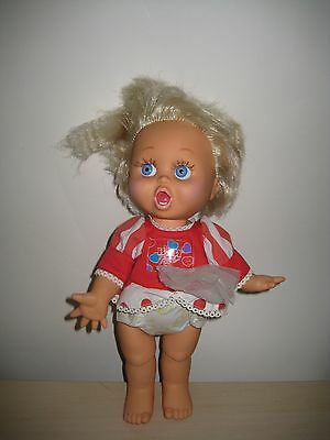 GALOOB Vintage 1990 Baby Face #2 SO SURPRISED SUZI Doll in Dress SO CUTE