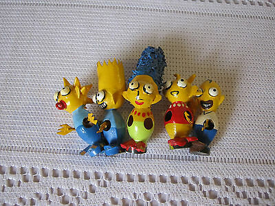 The Simpsons 5 magnetic metal figurines with bulging eyes one owner Collectable