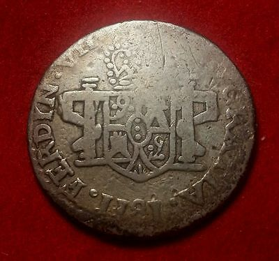 Mexico 1811 Zacatecas LVO 2 Reales  Silver Coin  #AAAC