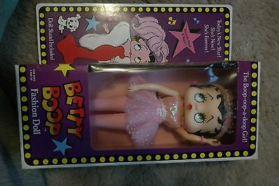 1986 Betty Boop Fashion Doll with Stand-pink Ballerina