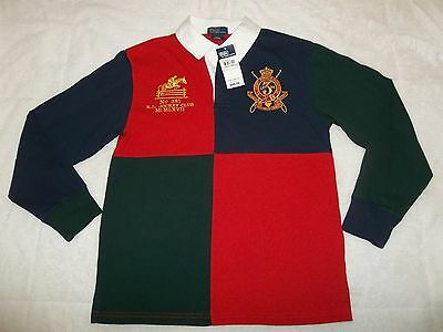 Tags! New Ralph Lauren Big Pony Polo Collar Long Sleeve Shirt Youth Boys L Large