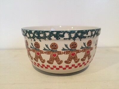 Gingerbread Bowl Stoneware Tienshan Folkcraft Christmas Holiday Soup Cereal