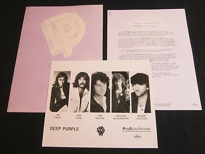 Deep Purple 'Nobody'S Perfect' 1988 Press Kit--Photo