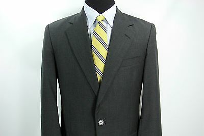 Brooks Brothers 2 Btn Suit Jacket Pants Charcoal Gray Wool USA Made 39 L x 34 W