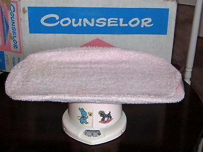 """Vintage 50""""s Brearley Company Counselor Pink Baby Scale, EUC, Original Box"""