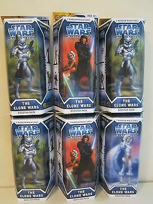 Star Wars Miniatures Booster Packs x 6 The Clone Wars NEW and SEALED