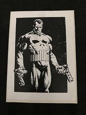 Vintage 1980's The Punisher Decal-Sticker Marvel Comics  Mancave