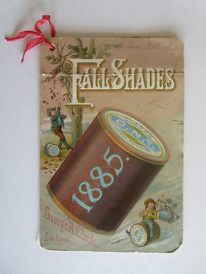 Clark's O.N.T. Spool Cotton 1885 Fall Color Examples Booklet 16 Threads Complete