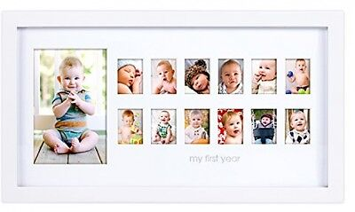 Pearhead My First Year Photo Moments Baby Keepsake Frame, White, Free Shipping