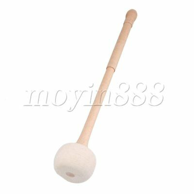 Multi-Purpose Bass Drum Felt Stick Mellet Maple Handle Wood 14 Inch