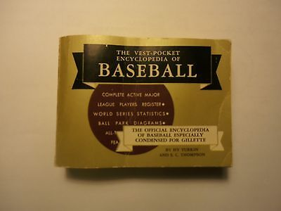 The Vest-Pocket Encyclopedia of BASEBALL  1956 Edition  320 Pages  EXC Cond.