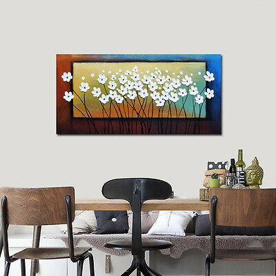 Hand Paint Oil Painting on Canvas Home Decor Wall Art Flowers Landscape Framed