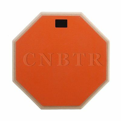 """Orange 12"""""""" Double Sided Snare Drum Practice Pad Realistic Feel"""