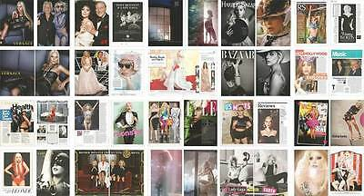 Singer actress LADY GAGA Lot of 36 clippings pages, print ads, pin up