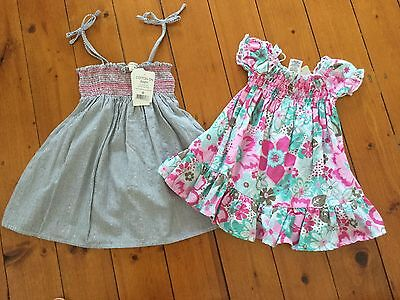 Bnwt Baby Girl Cotton On Dress (Size 0) And Target Dress (Size 00)